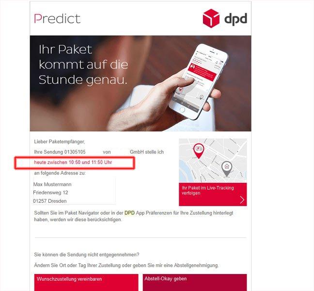 DPD predict Sendungsverfolgung