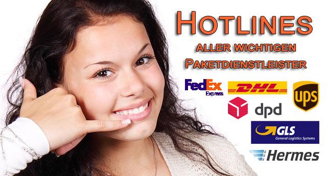 hotlines und kontaktinformationen aller wichtigen paketdienstleister. Black Bedroom Furniture Sets. Home Design Ideas